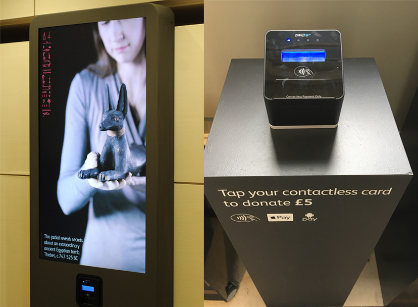 Two contactless donation experiences at National Museum of Scotland