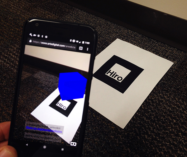 The portARble museum: Developing augmented reality for the Web using