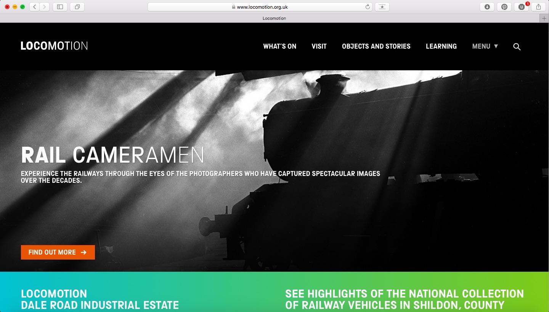 Locomotion website screenshot